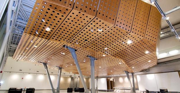 Featured Image for:Syracuse University - Bamboo Plywood Paneling Case Study