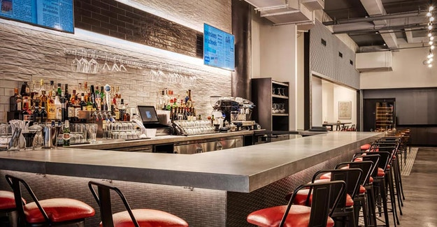 Featured Image for:800 Degree Pizza - Tekstur Bar Die-Wall Millwork Panels Case Study