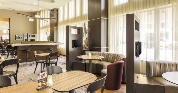 Featured Image for:Courtyard by Marriott Bistro Tables - EcoCuts Fabrication Case Study