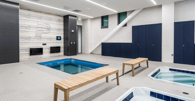 Featured Image for:St. Vincent Center - Pacers Training Facility - Richlite Cabinets Case Study